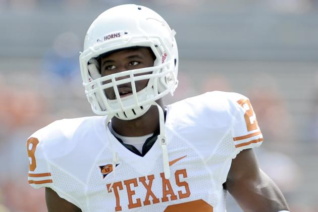 Texas Longhorns' CB Sheroid Evans out for 2013 Season