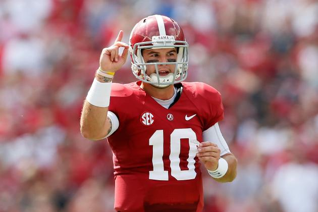 What 4 TDs, 1 Incompletion in Half of Play Mean for AJ McCarron's Heisman Stock