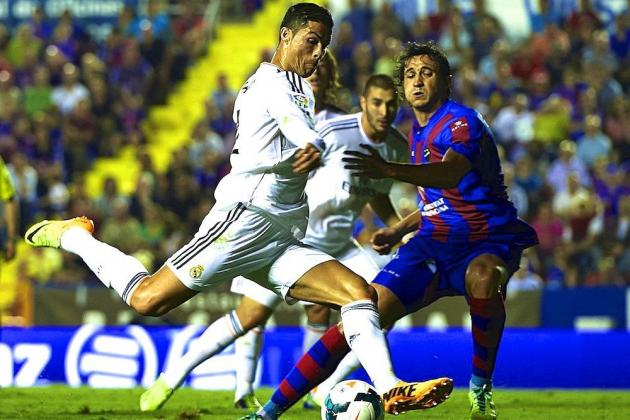 GIF: Cristiano Ronaldo Scores Last-Gasp Winner as Real Madrid Survive Levante