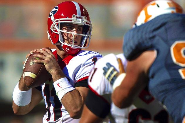 Aaron Murray Breaks Record for Most SEC Career Passing Yards