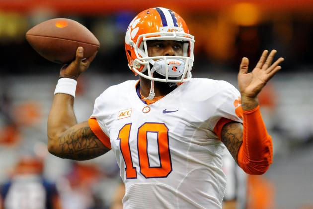 Tajh Boyd Adds to Heisman Momentum with 4 TDs in 1st Half vs. Syracuse