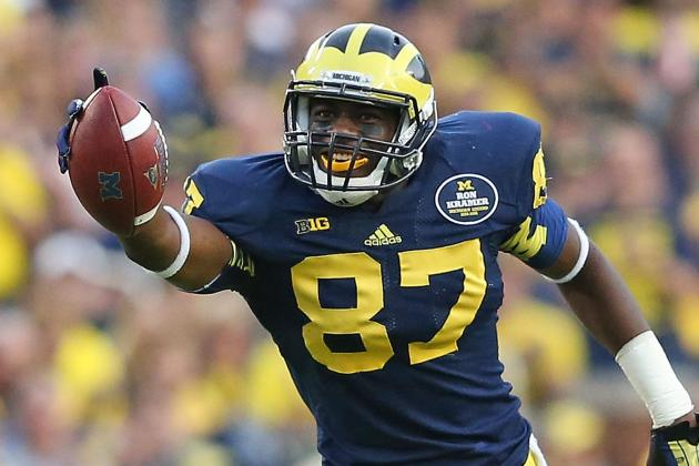 Devin Funchess Explodes as No. 19 Michigan Eases by Minnesota, 42-13