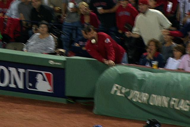 Boston Red Sox Fan Gets Hit in Face After Failing to Catch Foul Ball