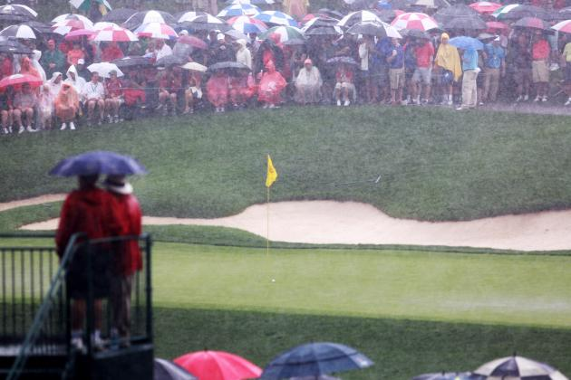 Golfers Beaten by Presidents Cup Stormy Weather