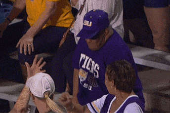 LSU Fan Dances in Stands While His Team Is on Upset Alert