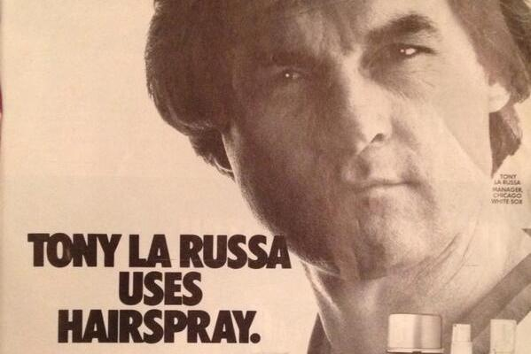 Throwback: Tony LaRussa Hairspray Ad from 1985