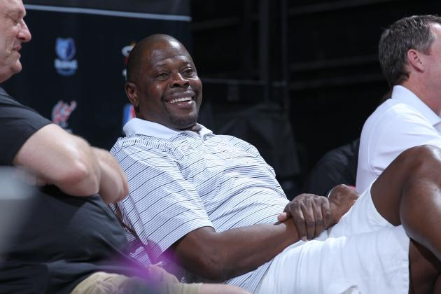 Charlotte Bobcats Assistant Patrick Ewing Has Center Al Jefferson's Ear
