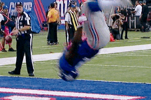 David Wilson Scores TD, Does Double Backflip