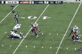 Tony Romo Magically Escapes Pressure to Find Receiver for Cowboys First Down