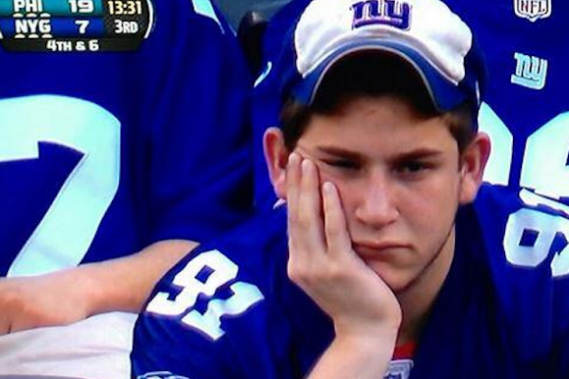 PHOTO: Giants Season Summed Up by One Fan's Really Sad Face