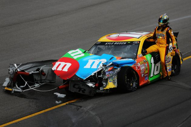 Are Kyle Busch's 2013 Title Hopes over After Crash at Kansas?