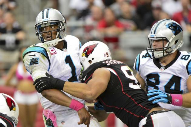 Panthers Give Up 7 Sacks to Cardinals