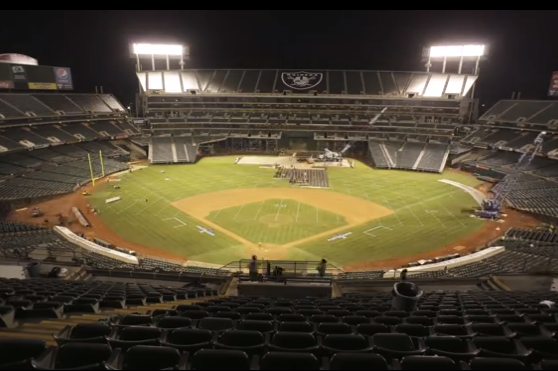 Watch Oakland'S O.co Coliseum Change from A's to Raiders Mode