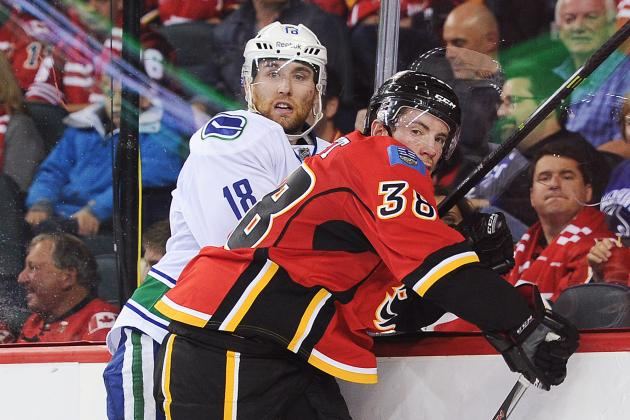 Calgary Flames Frustrated After Giving Up the Lead in Loss to Canucks