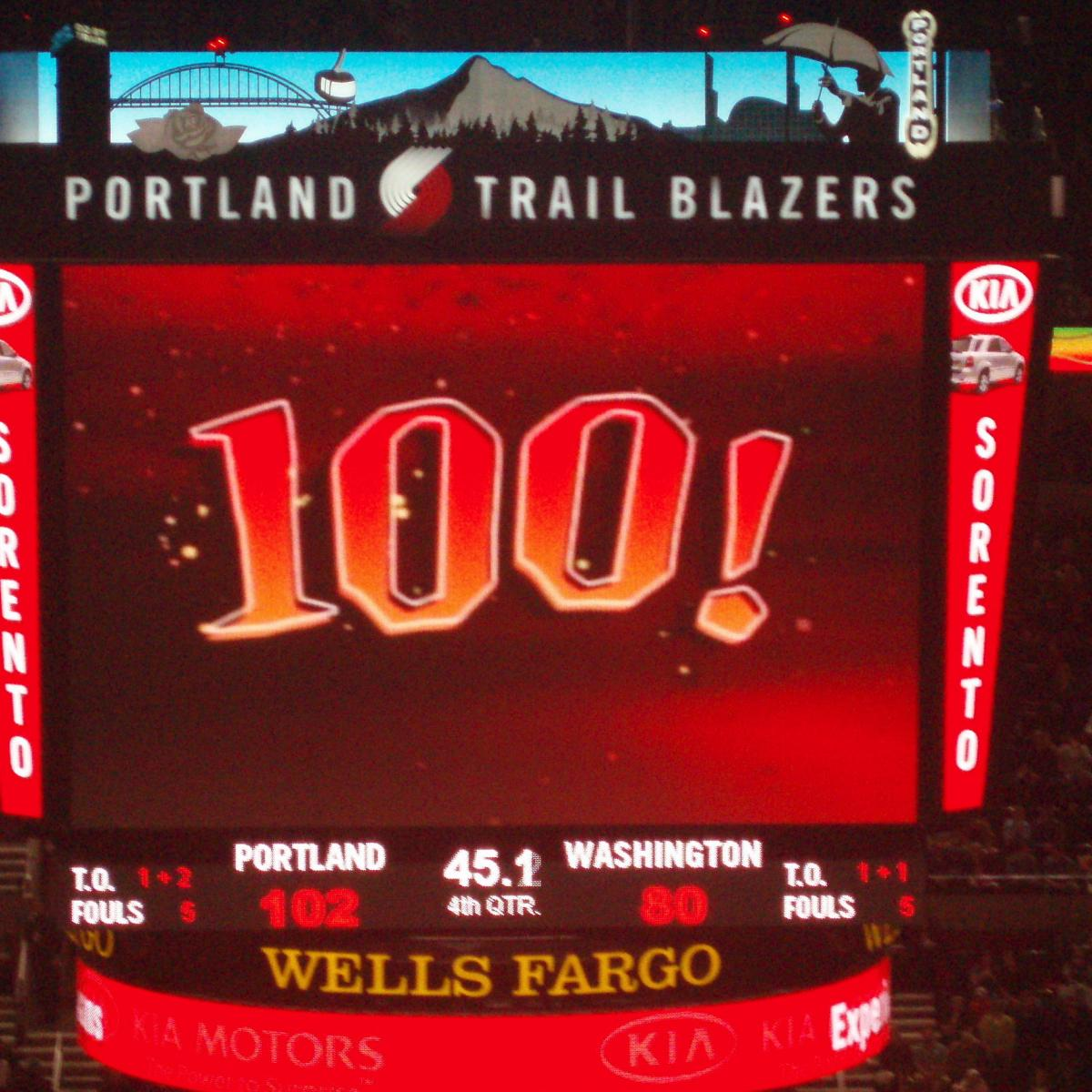 Portland Trail Blazers To Replace 100-Point Freebie