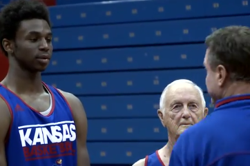 Video: Kansas Basketball Lampoons 'Old School' Frat-Pledging Scene