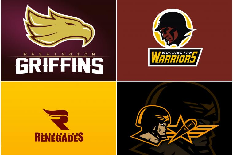 Artists Come Up with New Names and Creative Logos for Washington Redskins