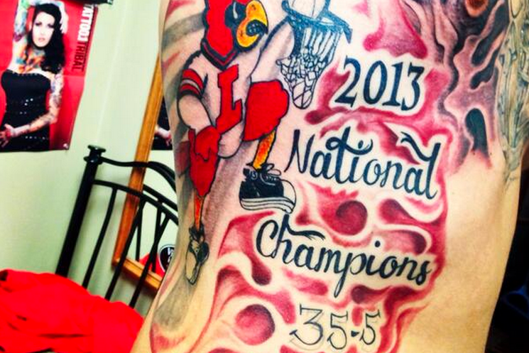 Former Louisville Basketball Player Gets Huge National Championship Rib Tattoo
