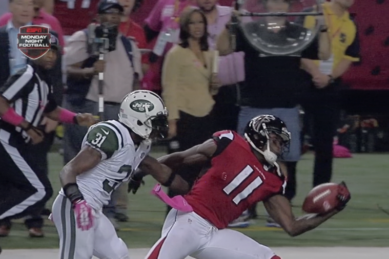 Julio Jones Makes an Incredible One-Handed Catch for a Big First Down
