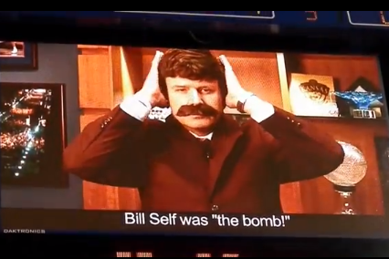 VIDEO: Kansas' Bill Self Dresses Up as Anchorman Ron Burgundy