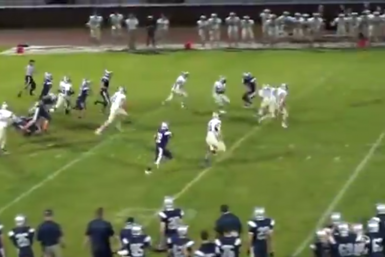 High School Punt Returner Breaks 9 Tackles En Route to TD