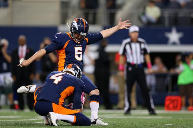 2013 Fantasy Football Kicker Rankings: NFL Week 6