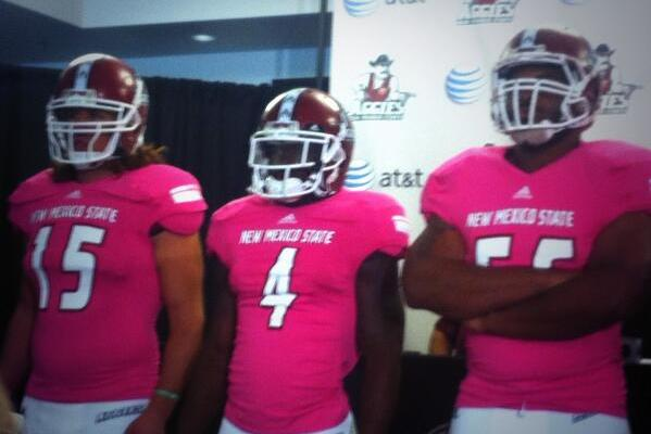 New Mexico State Breaks out Pink Uniforms for Game Against Rice
