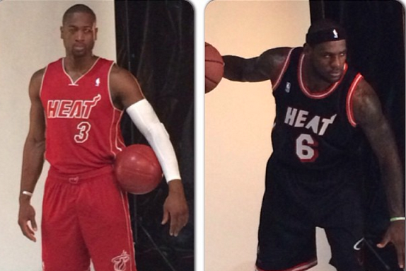Miami Heat Show Off Two New Uniforms They Will Wear for 2013-14 Season