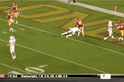Texas WR Mike Davis Issues Apology for Cut on Iowa State Defender