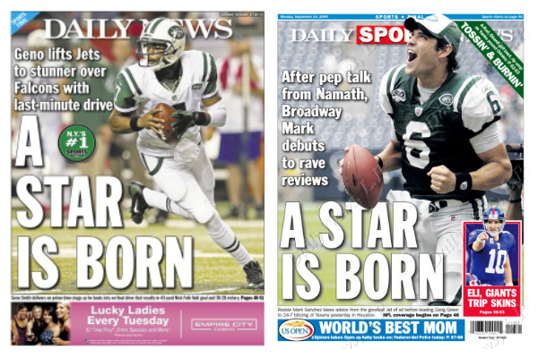 Jets' Geno Smith Gets Eerily Similar Headline to a Young Mark Sanchez