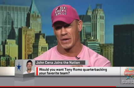 VIDEO: John Cena Says If He Owned an NFL Team, He'd Pass on Tony Romo
