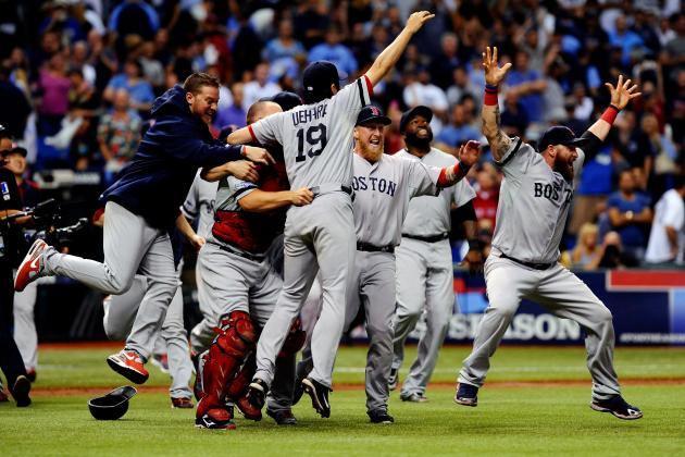 Video, Twitter Reaction of Boston Red Sox Celebrating ALDS Series Victory