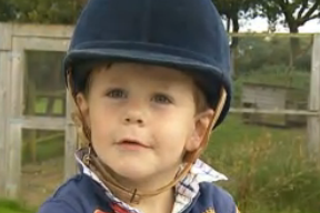Boy, 3, in Horse of the Year Ride