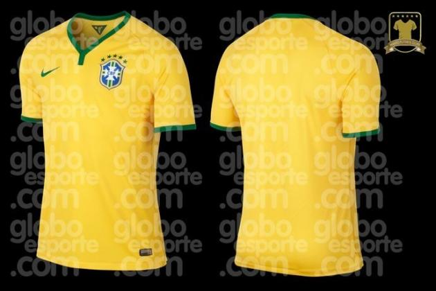 Brazil's New Kit Leaked Ahead of 2014 World Cup on Home Soil