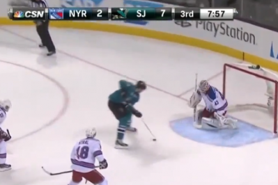NHL Rookie Tomas Hertl's FOURTH Goal of the Night