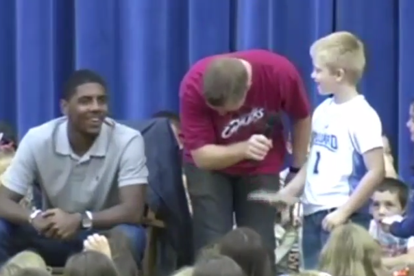 Young Cavs Fan Asks Kyrie Irving If He's Going to Leave Like LeBron James Did