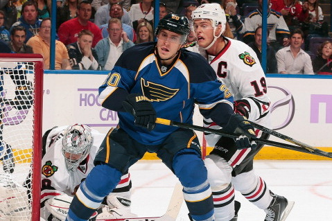 Blues Score in Last Minute, Drop Blackhawks