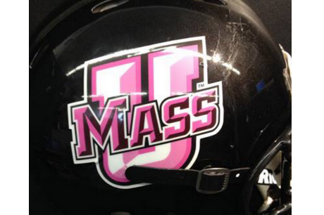 UMass Unveils Pink Logo Helmets for Breast Cancer Awareness Month