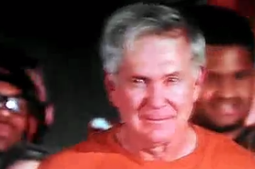 Mack Brown Rips off Shirt in Rally Leading Up to Oklahoma Game