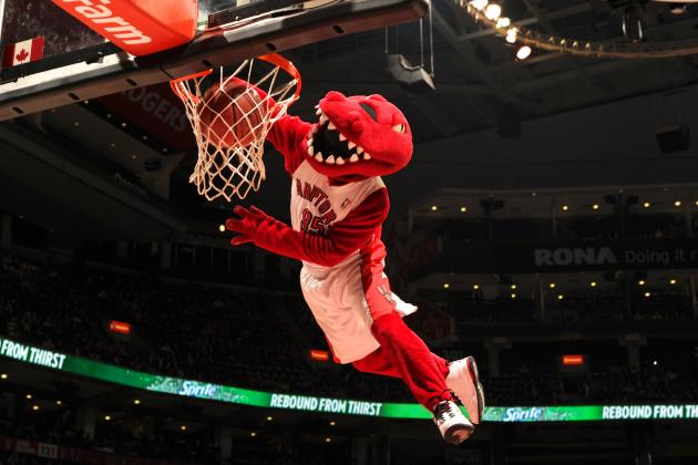 Raptors Mascot Out for the Season after Tearing Achilles During School Visit