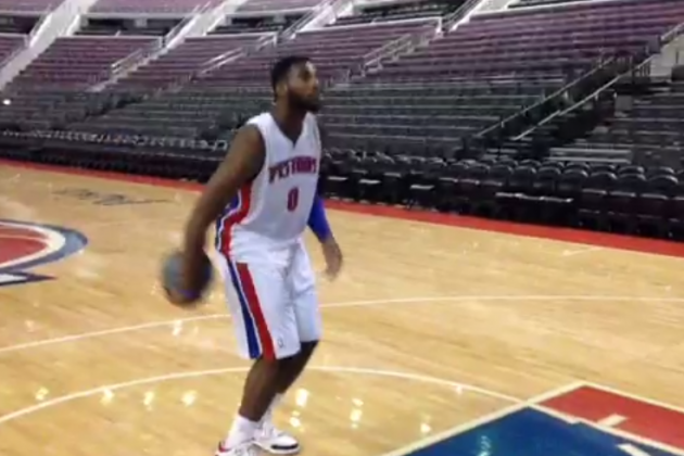 Andre Drummond Practices a New Free-Throw Technique