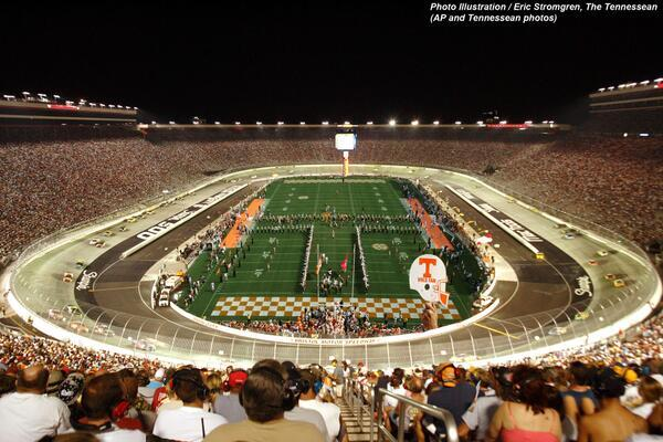 Tennessee vs Virginia Tech at Bristol Motor Speedway? CFB Should Do More of This