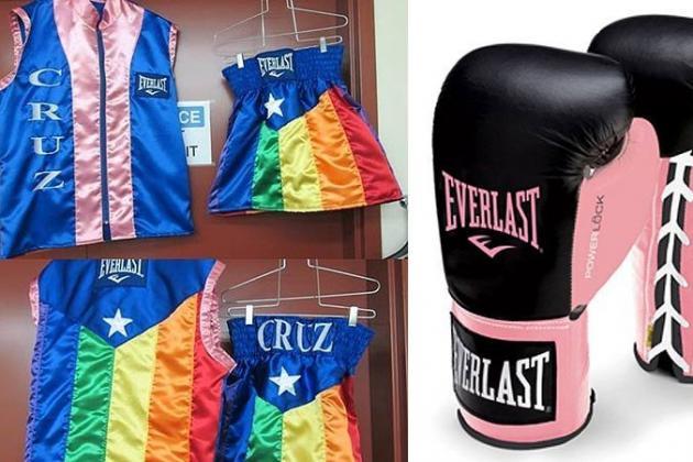 Gay Boxer Orlando Cruz Will Wear Rainbow Shorts, Pink Gloves in World Title Bout