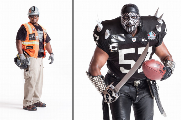 ESPN the Magazine Shows Iconic Oakland Raiders Fans in and out of Costume