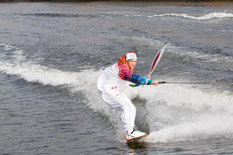 Photo: Olympic Flame Goes Wakeboarding