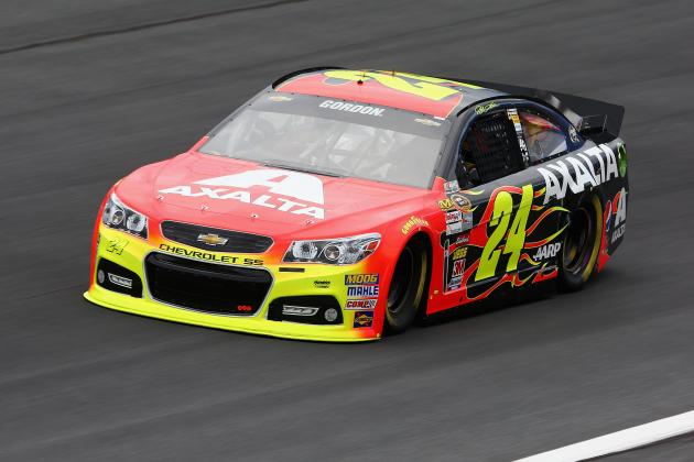 Jeff Gordon Wins Charlotte Pole, Teammates in Top Six
