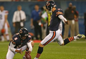 Bears K Robbie Gould scored before the half.