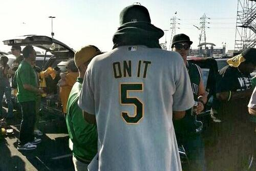 Oakland A's Fan Has a '5 on It' Jersey in Honor of the Classic Bay Area Rap Song