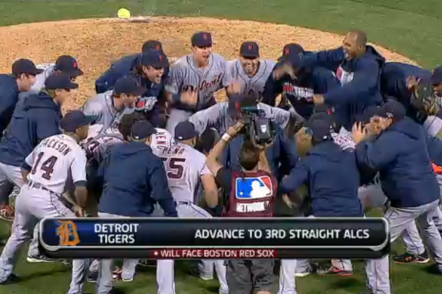 Video, Twitter Reaction for Tigers Celebrating ALDS Series Victory