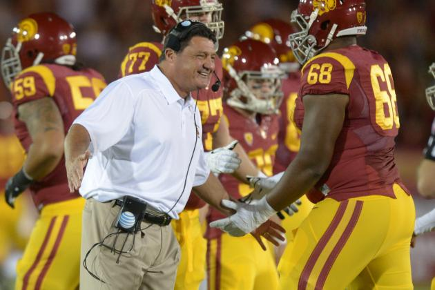 Arizona vs. USC: Score, Analysis for Trojans' Win in Ed Orgeron's Debut